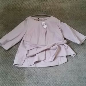 Shell colored stretch blouse